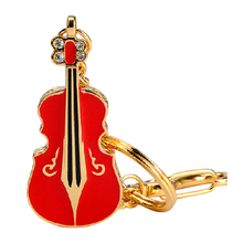 """Флешка Металлическая Скрипка """"Violin Key"""" R4 красный 4 Гб"""