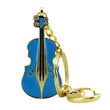 """Флешка Металлическая Скрипка """"Violin Key"""" R4 синый 4 Гб"""