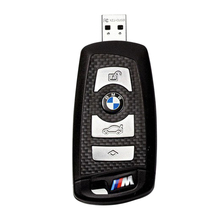 """Флешка Карбоновая Автомобильный ключ БМВ """"BMW M Car Key"""" L10 черный 4 Гб"""