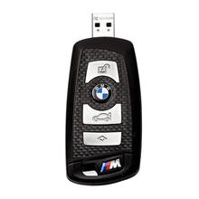 """Флешка Карбоновая Автомобильный ключ БМВ """"BMW M Car Key"""" L10 черный 128 Гб"""
