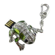 "Флешка Металлическая Лягушка ""Cute Frog"" R76 зеленый 8 Гб"