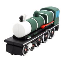 """Флешка Резиновая Ретро Поезд """"Retro Train"""" Q84 зеленый 16 Гб"""