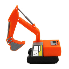 """Флешка Резиновая Экскаватор """"Excavator"""" Q133 оранжевый 4 Гб"""