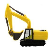 """Флешка Резиновая Экскаватор """"Excavator"""" Q133 желтый 32 Гб"""