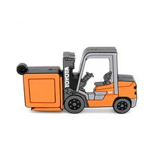 """Флешка Резиновая Погрузчик """"Forklift Truck"""" Q143 оранжевый 4 Гб"""
