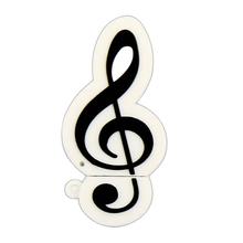 """Флешка Резиновая Скрипичный Ключ """"Treble Clef"""" Q151 белый 4 Гб"""