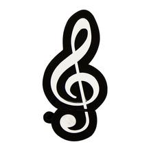"""Флешка Резиновая Скрипичный Ключ """"Treble Clef"""" Q151 черный 1 Гб"""