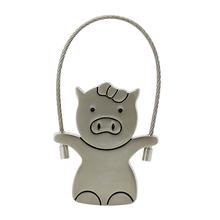"""Флешка Металлическая Свинка Вуди """"Woody Pig"""" R158 девочка серебряная 128 Гб"""
