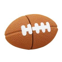 """Флешка Резиновая Мяч Регби """"Rugby Ball"""" Q164 коричневый 4 Гб"""