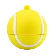 """Флешка Резиновая Теннисный Мяч """"Tennis Ball"""" Q167 желтый 4 Гб"""
