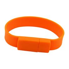 """Флешка Силиконовый Браслет """"Bracelet Splice"""" V170 оранжевый 128 Гб"""