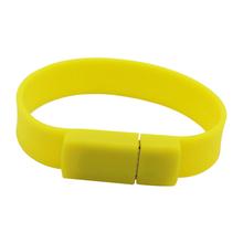 """Флешка Силиконовый Браслет """"Bracelet Splice"""" V170 желтый 4 Гб"""
