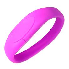"""Флешка Силиконовый Браслет """"Bracelet Fancy"""" V171 фиолетовый 4 Гб"""