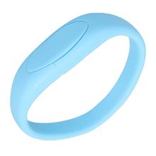 """Флешка Силиконовый Браслет """"Bracelet Fancy"""" V171 голубой 8 Гб"""