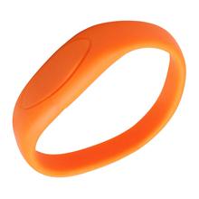 """Флешка Силиконовый Браслет """"Bracelet Fancy"""" V171 оранжевый 4 Гб"""