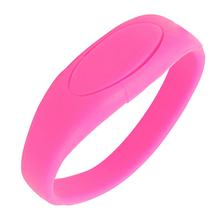"""Флешка Силиконовый Браслет """"Bracelet Fancy"""" V171 розовый 4 Гб"""