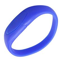 """Флешка Силиконовый Браслет """"Bracelet Fancy"""" V171 синий 4 Гб"""