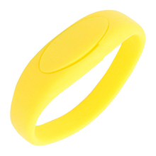 """Флешка Силиконовый Браслет """"Bracelet Fancy"""" V171 желтый 8 Гб"""