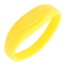 """Флешка Силиконовый Браслет """"Bracelet Fancy"""" V171 желтый 1 Гб"""