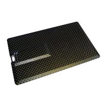 """Флешка Карбоновая Визитка """"Business Card Carbon"""" L222 черный 4 Гб"""