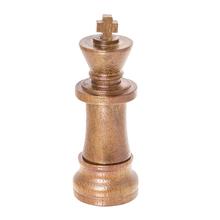 """Флешка Деревянная Шахматы Король """"Chess King"""" F25 бронзовый 4 Гб"""