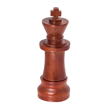 """Флешка Деревянная Шахматы Король """"Chess King"""" F25 красный 4 Гб"""