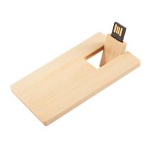 """Флешка Деревянная Визитка """"Business Card Wood"""" F27 желтый 4 Гб"""