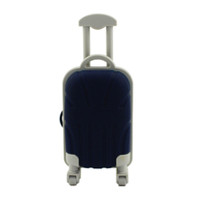 "Флешка Резиновая Чемодан ""Suitcase Travel"" Q318 синий 4 Гб"