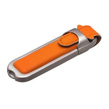 """Флешка Кожаная Хеликс """"Helix Leather"""" N326 оранжевый 4 ГБ"""