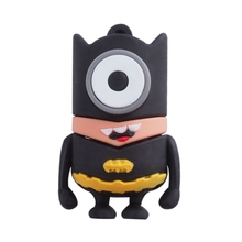 "Флешка Резиновая Миньон Бэтмен ""Minion Batman"" Q355 черная-желтая 4 Гб"
