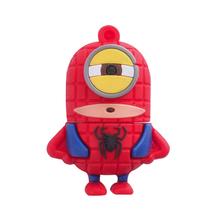 """Флешка Резиновая Миньон Человек-Паук """"Minion Spider-Man"""" Q355 красный-синий 4 Гб"""