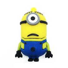 "Флешка Резиновая Миньон Стюарт ""Minion Stuart"" Q355 желтый-синий 4 Гб"