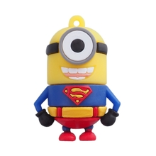 "Флешка Резиновая Миньон Супермен ""Minion Superman"" Q355 синий-красный 4 Гб"