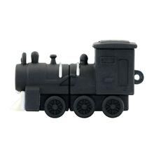 """Флешка Резиновая Поезд Тепловоз """"Train Diesel"""" Q425 черный 8 Гб"""