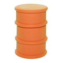 """Флешка Резиновая Бочка """"Barrel"""" Q428 оранжевый 4 Гб"""