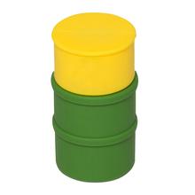 """Флешка Резиновая Бочка """"Barrel"""" Q428 желтый / зеленый 4 Гб"""