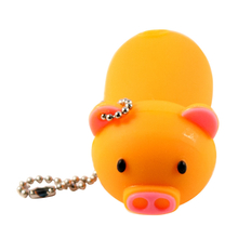 """Флешка Резиновая Поросенок """"Piggy"""" Q430 оранжевый 4 Гб"""