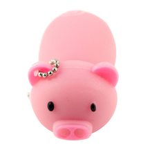 """Флешка Резиновая Поросенок """"Piggy"""" Q430 розовый 32 Гб"""