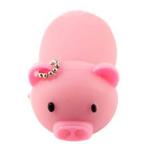 """Флешка Резиновая Поросенок """"Piggy"""" Q430 розовый 128 Гб"""
