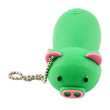 """Флешка Резиновая Поросенок """"Piggy"""" Q430 зеленый 4 Гб"""