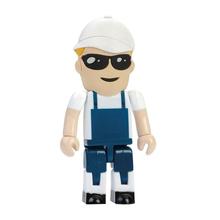 """Флешка Пластиковая Строитель """"Builder"""" S444 синий 4 Гб"""