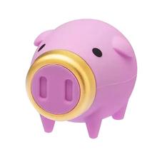 """Флешка Резиновая Свинка """"Pig King"""" Q456 розовая 64 Гб"""