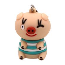 """Флешка Резиновая Поросенок Матрос Грей """"Pig Sailor Gray"""" Q458 розовый 4 Гб"""
