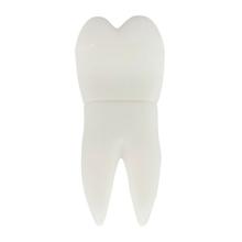 "Флешка Резиновая Зуб ""Tooth"" Q465 белый 4 Гб"