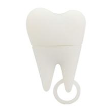 """Флешка Силиконовая Зуб """"Tooth"""" V466 белый 128 Гб"""