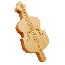 "Флешка Деревянная Скрипка ""Violin Wood"" F26 бежевая 4 Гб"