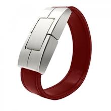 """Флешка Кожаный Браслет """"Bracelet Clasp"""" N177 коричневый 4 Гб"""