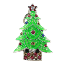 "Флешка Металлическая Елка ""Christmas Tree"" R28 зеленая 8 Гб"