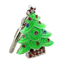 "Флешка Металлическая Елка ""Christmas Tree"" R28 зеленая 4 Гб"
