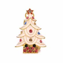 "Флешка Металлическая Елка ""Christmas Tree"" R28 белая 8 Гб"